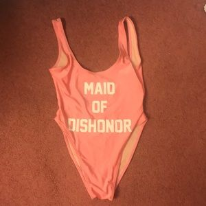 MAID OF DISHONOR ONE PIECE SWIMSUIT NWOT